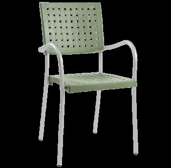 Крісло Papatya Karea світло-зелений, база алюміній