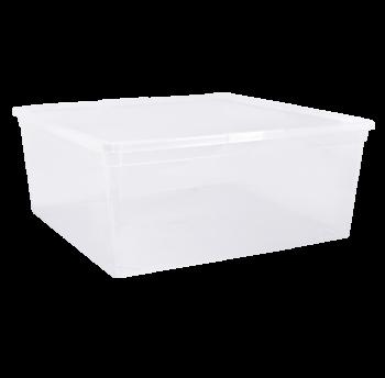 """Контейнер для хранения вещей """"Евро"""" 17,5 л с крышкой прозрачный"""