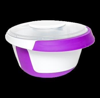 Емкость для миксера 2,5 л с крышкой фиолетовая