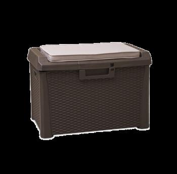 Скриня пластикова Santorini Plus 125 л коричнева з подушкою Toomax