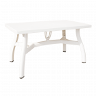 Стіл прямокутний Irak Plastik King 80x140 білий