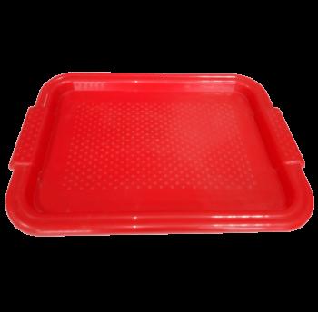 Поднос прямоугольный Радуга красный