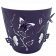 Горшок для цветов 3D 5,3 л тёмно-фиолетовый