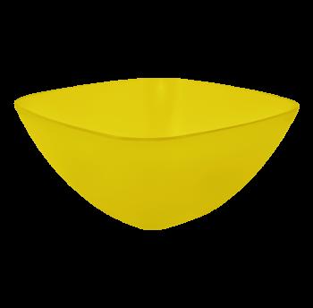 Салатница пластиковая 1л прозрачно-желтая