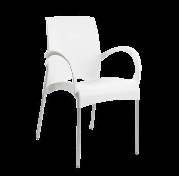 Крісло Papatya Vital-K біле, база алюміній