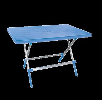 Стол складной Irak Plastik Delta 70x100 голубой