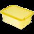 Бокс прямоугольный Orplast 12,5 л с крышкой клипсами желтый