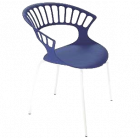 Кресло Papatya Tiara пурпурный, база катафорез белый