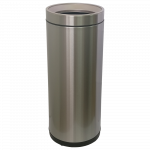 Ведро для мусора JAH 25 л круглое серебряный металлик без крышки и внутреннего ведра