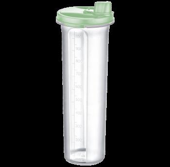 Бутылка для масла / уксуса 1,25 л зеленая прозрачная