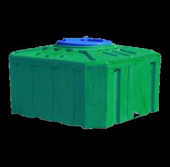 Емкость 300 л квадратная двухслойная зеленого цвета