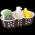 Органайзер для ванной и кухни Planet Stone коричнево-кремовый