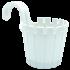 Горшок для цветов балконный подвесной Akasya Single 1,5 л белый