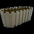 Горщик для квітів балконний Akasya 5,5 л сіро-коричневий