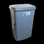 Бак мусорный 90л темно-серый