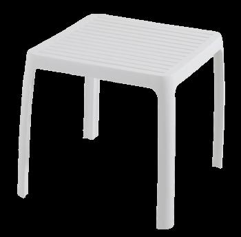 Столик для шезлонга Papatya Wave білий