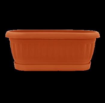 Вазон с подставкой Терра кактусовка 1,6л терракотовый