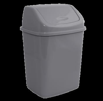 Ведро для мусора 5л с крышкой серое
