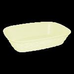 Хлібний кошик під ротанг жовтий