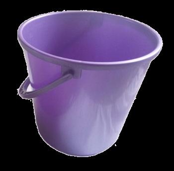 Ведро 14 л круглое фиолетовое