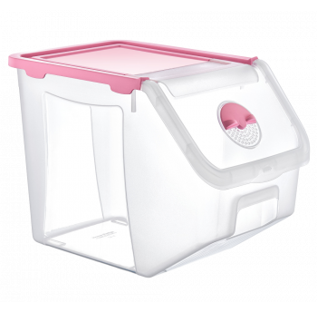 Контейнер 14 л для хранения пищевых продуктов розовый
