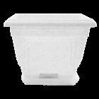 Вазон с подставкой Петуния 28х28х22 см белый флок