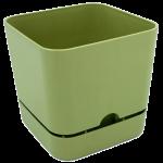 Горщик для квітів квадратний Begonya 1,5 л зелений