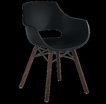 Кресло Papatya Opal Wox Iroko матовое черное