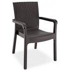 Крісло Irak Plastik Markiz під ротанг темно-коричневий