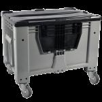Контейнер Kayalarplastik KSK 1280-80 510 л с откидной стенкой c колесами, без крышки серый