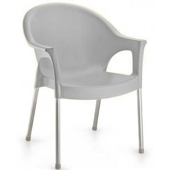 Кресло Irak Plastik Bergama серый