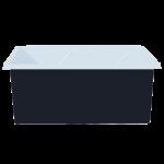 Контейнер 1500 л промышленный двухслойный черный