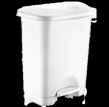Відро для сміття з педаллю Irak Plastik Stella 45л біле