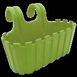 Горшок для цветов балконный подвесной Akasya 3,5 л зеленый
