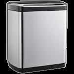 Сенсорное мусорное ведро JAH 20 л прямоугольное металлик с внутренним ведром