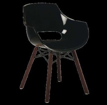Кресло Papatya Opal Wox Iroko черное