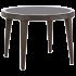 Стол Tilia Osaka d110 см столешница из стекла, ножки пластиковые венге