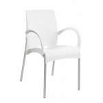Кресло Papatya Vital-K белое, база алюминий