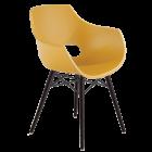 Кресло Papatya Opal-Wox матовый желтый, рама лакированный бук венге