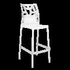 Барный стул Papatya Ego-Rock белое сиденье, верх прозрачно-чистый