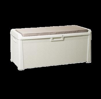 Сундук пластиковый Santorini Plus 550 л молочный белый с подушкой Toomax