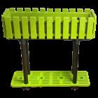 Горшок для цветов балконный с подставкой на ножках Akasya 11 л зеленый