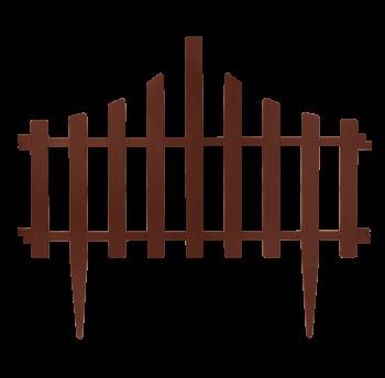 """Набор ограждение для газона """"Заборчик"""" (4в1) темно-коричневый"""