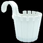 Горщик для квітів балконний підвісний Akasya Single 1,5 л білий