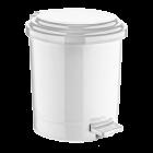 Ведро для мусора с педалью Irak Plastik №3 19,5л белое