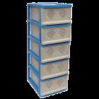 Классический комод, шкаф для посуды голубой