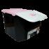 Контейнер 14 л для хранения пищевых продуктов черно-розовый