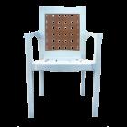 Кресло пластиковое Хризантема белое