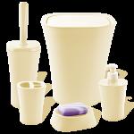 Набор для ванной комнаты Planet Papillon 5 предметов кремовый