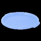Поднос круглый пластиковый 38,9х2,5 см голубой